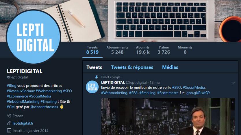 mode nuit bleu navy twitter