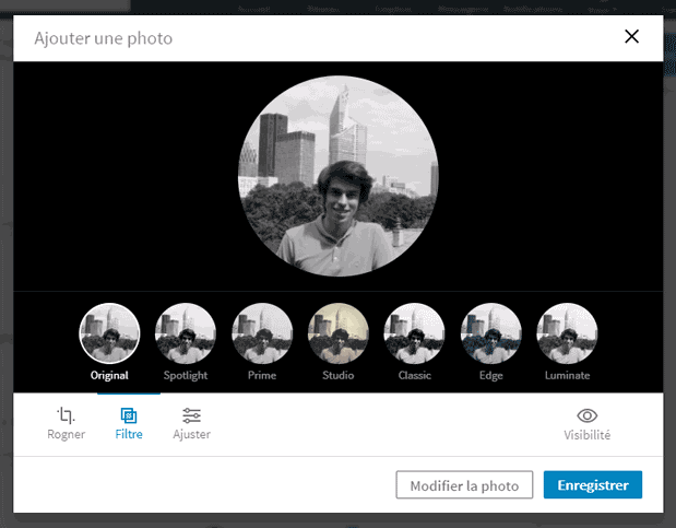 modifier photo profil linkedin