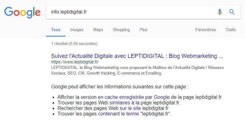 operateur recherche info google