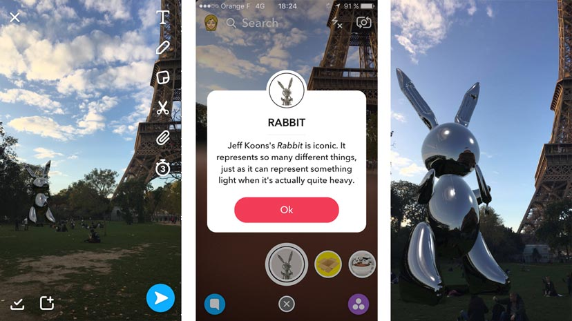 Snapchat Art jeff koons