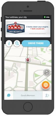 exemple format publicitaire Waze Ads
