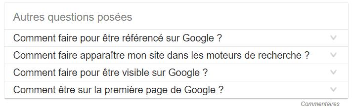 autres questions Google