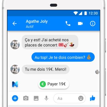 envoi argent Messenger Facebook