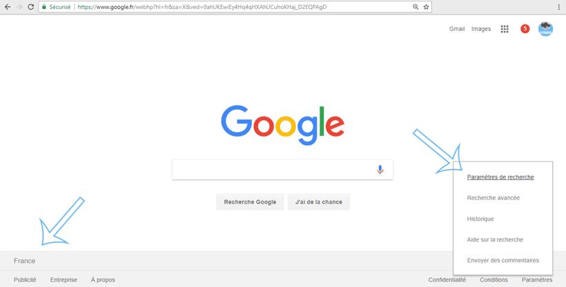 recherche locale google