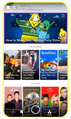storie sponsorisée Snapchat