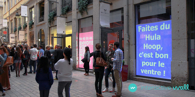 street marketing interactive wall