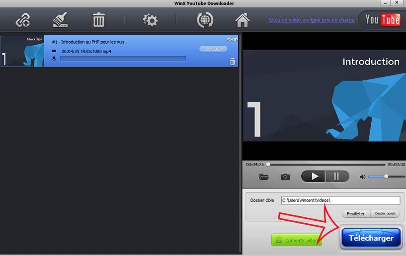 télécharger enregistrer vidéo YouTube