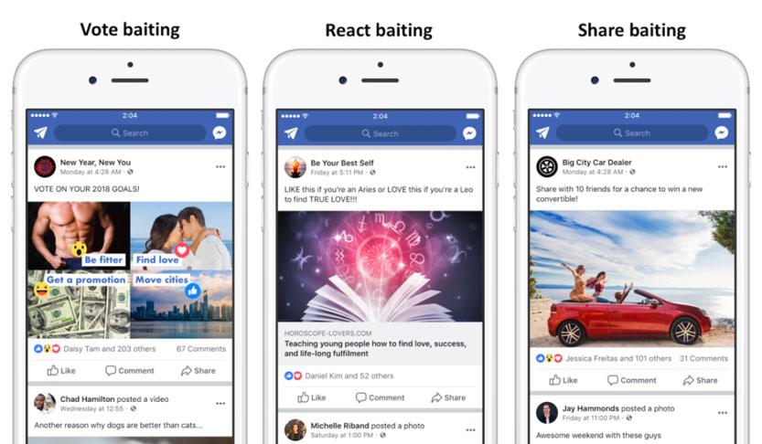 engagement baiting facebook