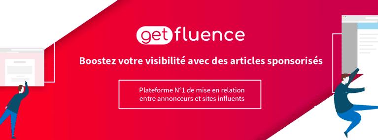 getfluence monétisation site web
