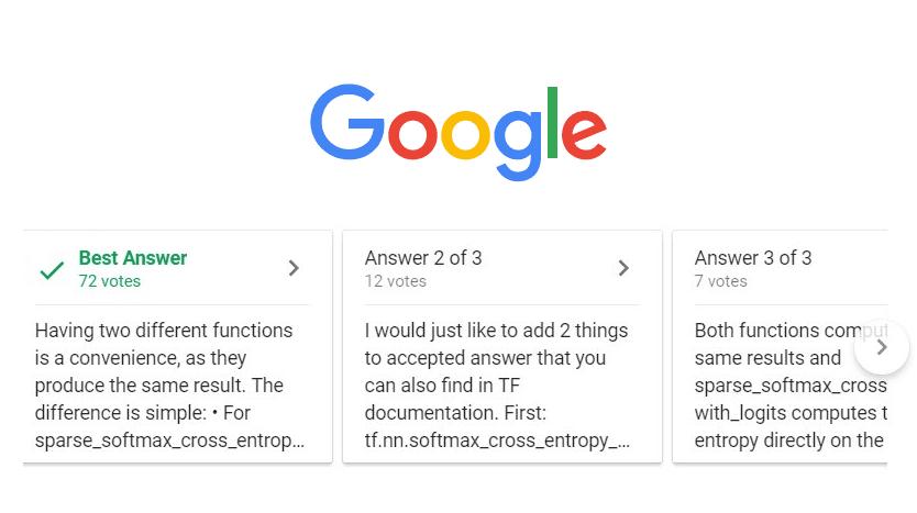 google best answer