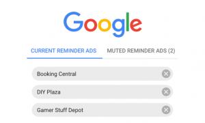 google masquer publicités remarketing