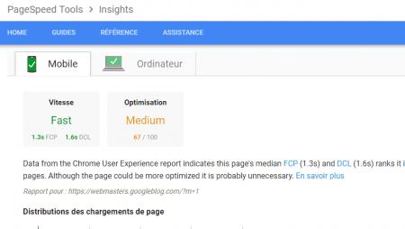 Google annonce et déploie 4 nouveautés sur son outil PageSpeed Insights !