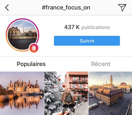 suivre hashtag instagram