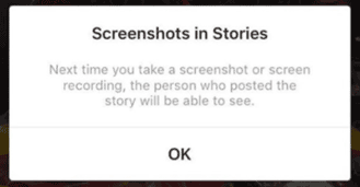 avertissement screenshot stories instagram