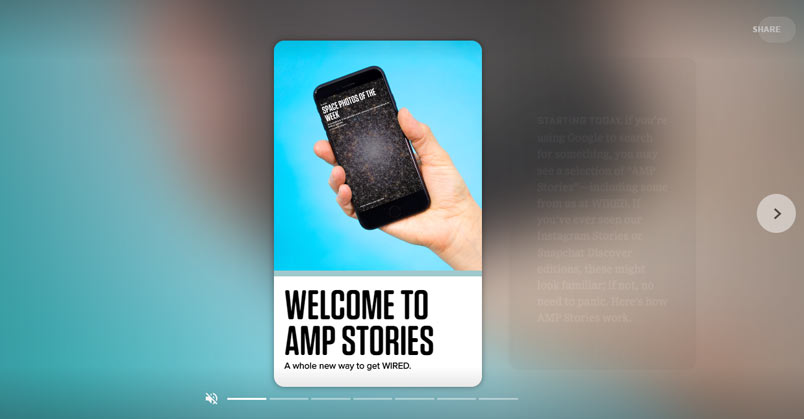 google amp stories ordinateur