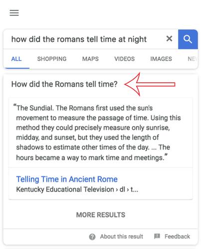 nouveauté featured snippet google
