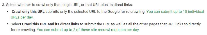nouvelles limites crawl google