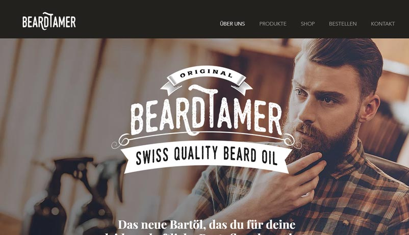 Exemple site BeardTamer Wix