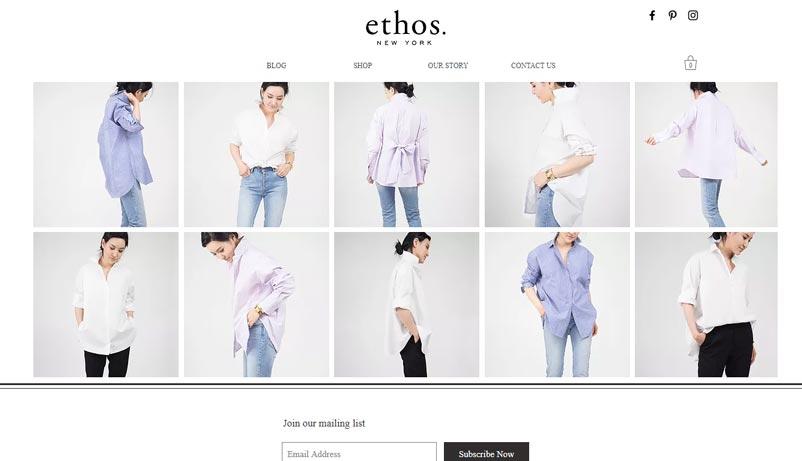 Exemple site Ethos Wix