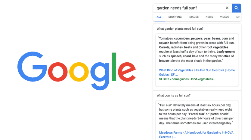 google multifaceted featured snippets