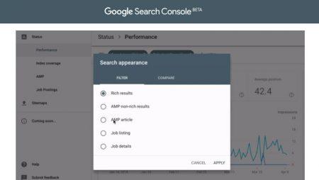 Search Console : les filtres «Apparence dans les résultats de recherche» désormais disponibles sur la nouvelle version !