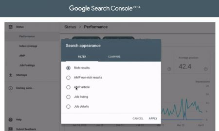 search console apparence resultats