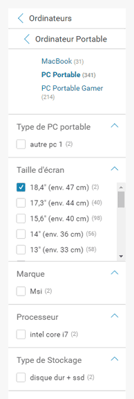 exemple navigation facette