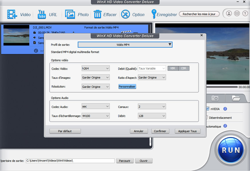 winx video converter compression video