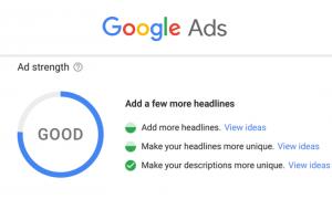google ads strength