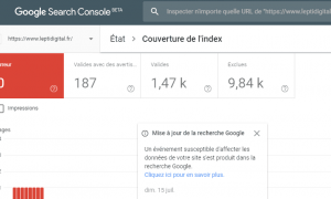 rapport couverture index search console