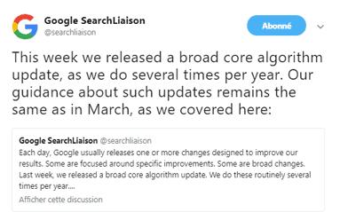 tweet google maj