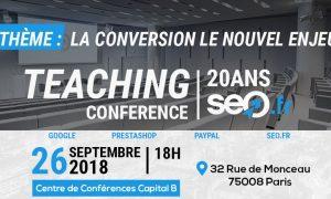 conférence seo Paris Septembre 2018