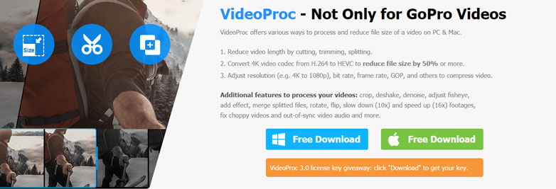 videoproc go pro