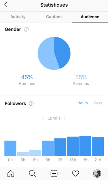 audience statistiques instagram