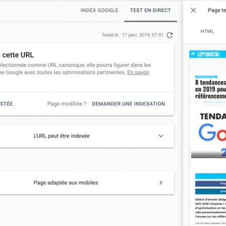 Comment vérifier et visualiser comment GoogleBot voit une page avec la Search Console ?