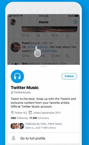 twitter navigation