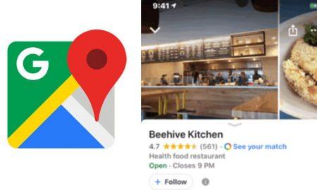 google maps suivre commerce