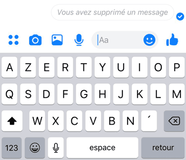 confirmation messenger supprimer message