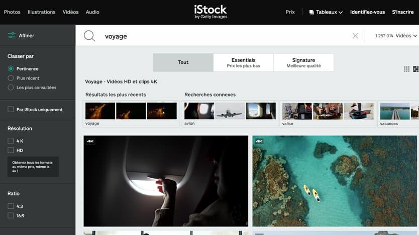 banques video libres droits