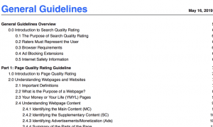 google search quality rater guidelines 2019