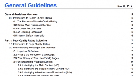 Google Search Quality Rater's Guidelines : une version 2021 MAJ !