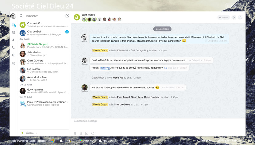 messagerie chat bitrix