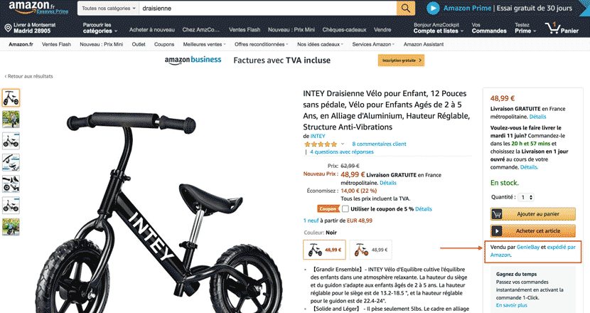 comment vendre amazon