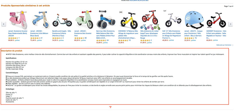 description html amazon listing