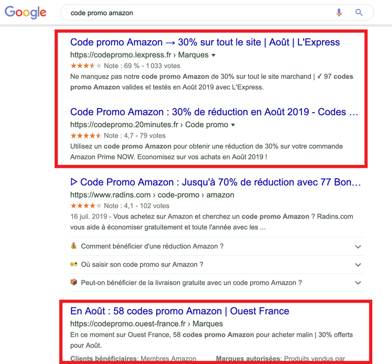 location sous domaines google