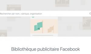 bibliothèque publicitaire facebook