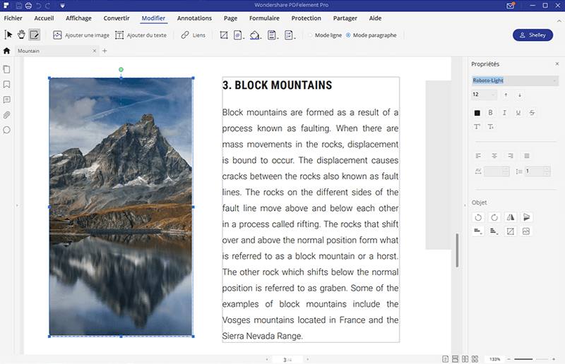 editer image pdf element