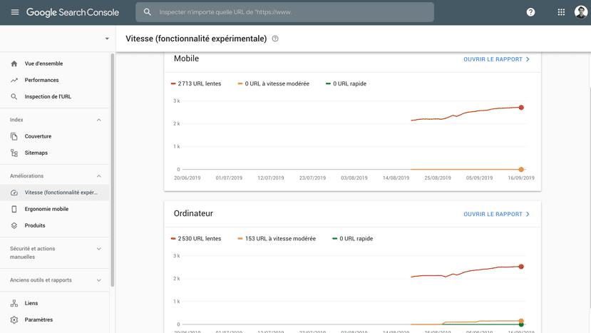 Rapport « Vitesse » : un nouveau rapport experimental sur la Google Search Console !