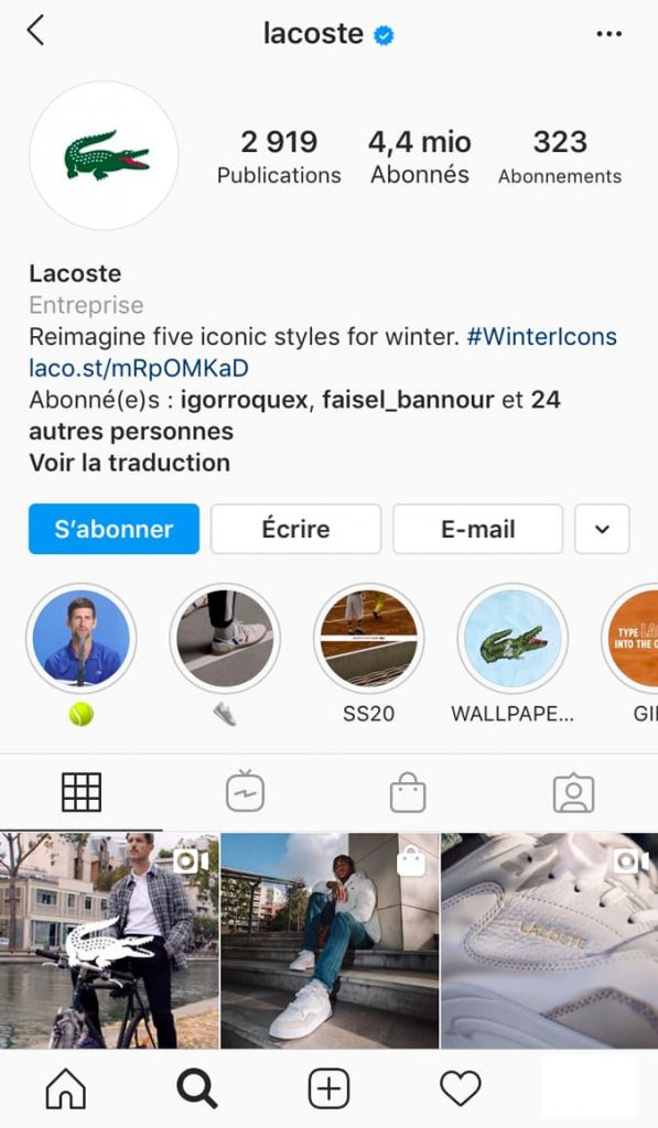 exemple stories permanentes instagram