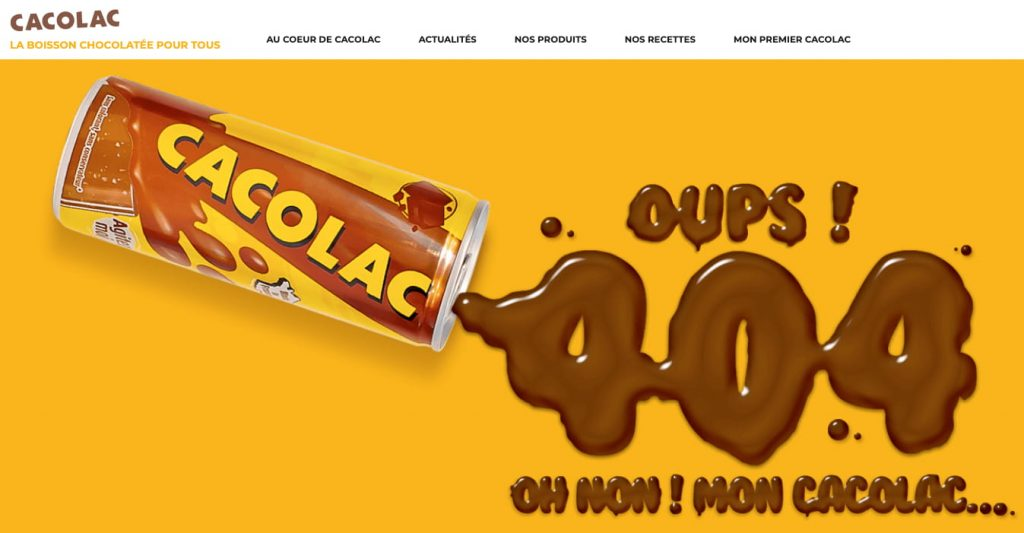 page erreur 404 cacolac